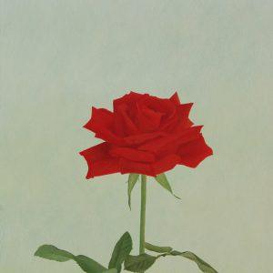 『赤いばら』 F4(33×24cm)